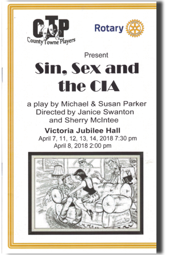 Sin Sex and The CIA Playbill